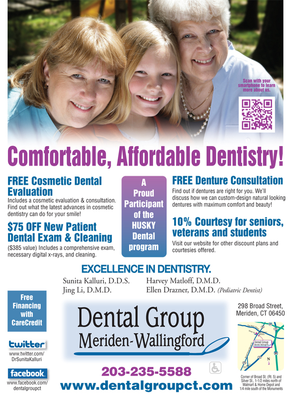 Comfortable, Affordable Dentistry from Dental Group of Meriden-Wallingford